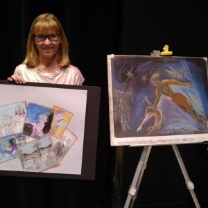 Svetlana and her art (photo by SF)